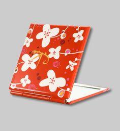 NEW collection.. PYLONES - MIMI pocket mirror white flower