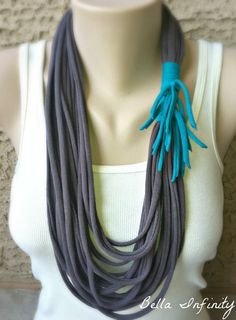Bella Infinity Wrap Scarf Grey Turquoise by BellaInfinityScarves, $23.00  www.facebook.com/infinity0512