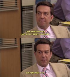 """or longer. 20 Signs You're Andy Bernard From """"The Office"""" When It Comes To Dating The Office Andy, The Office Show, Dwight K Schrute, Netflix Quotes, The Office Characters, Andy Bernard, Office Quotes, Seinfeld, Meeting Someone"""