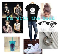 """""""band tee"""" by taylorheilman ❤ liked on Polyvore featuring Converse, American Eagle Outfitters, bandtshirt and bandtee"""