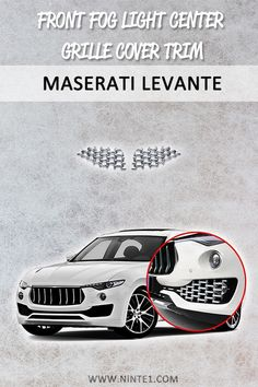 Car accessories for Maserati Levante: Front fog light Center Grille Cover Trim. Must have car customization and decoration accessories. Put it on your car essentials list. A breathe of fresh air for your Maserati Levante. Maserati, Must Have Car Accessories, Custom Car Parts, Custom Cars For Sale, Custom Car Interior, Car Essentials, Car Repair Service, Diesel Cars, Car Mods