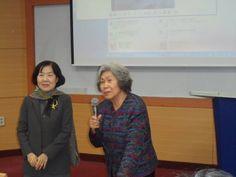 (왼쪽) 박남희 교수와 박래경 명예회장, 김달진 미술연구소