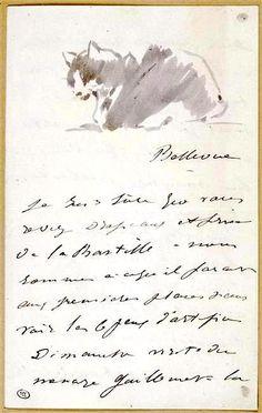 Édouard Manet  Manet's Cat (1880)  Letter to Isabelle Lemmonier