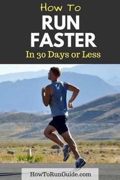 Learn how to run faster in 30 days or less with these helpful speed running tips Running Training Plan, Race Training, Running Workouts, Running Tips, Easy Workouts, Trail Running, Running Humor, Speed Training, Training Equipment