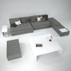 Zanotta Domino Sofa showing more of the modular options.