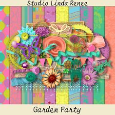 "Free scrapbook ""Garden Party"" from Studio Linda Renee"