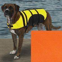 "Aquatic Dog Life Jacket Size-See Chart Below: XX-Large - 30"" L, Color: Orange"