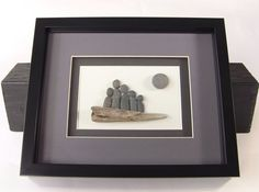 Pebble Art Family Picture  Family of 5 Artwork  by PebbleCreationz, $89.00