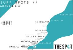 Morocco Surf Spot Map   www.thespotmorocco.com
