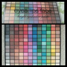 144 eyeshadow pallet by ELF... they're very pigmented and worth buying... this pallet is so much fun with so much colors to play with...
