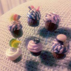 Cups cakes de alfileres de novia