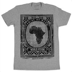 $28 ENDING THE CYCLE    Premium fitted short-sleeved crew. 100% combed cotton jersey. Tagless custom neck label.    By purchasing this shirt you are supporting the efforts by World Vision to bring life-saving relief and long-term development to children and families in the Horn of Africa through community-based programs in nutrition, health, education, water, and sanitation.    #WorldVision #GIVEN #FathersDay