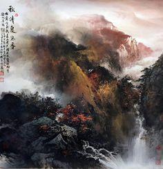 李長田(Li Zhang Tian) 秋清泉氣香 67.5x67.5cm #ART #GALLERY #PAINTING #MOUNTAIN #TREE #LANDSCAPE #INK #EXHIBITION #AUTUMN