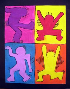 Keith Haring Figure Paintings