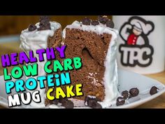 Healthy Low Carb PROTEIN Mug Cake Recipe - YouTube