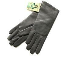 Grey leather gloves - Randers Handskefabrik