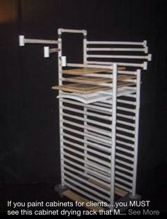 Cabinet Door Drying Rack Brilliant Diy Cabinet Door Drying Rack From Pvc Pipe & 2X4 Lumber Wood Decorating Inspiration