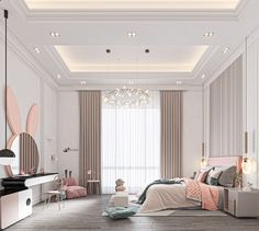 Luxury Kids Bedroom, Room Design Bedroom, Girl Bedroom Designs, Modern Bedroom Design, Room Ideas Bedroom, Home Room Design, Home Decor Bedroom, Home Interior Design, Dream Rooms
