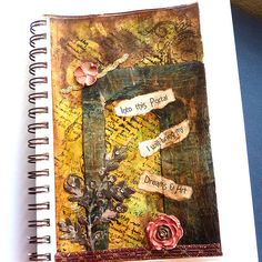 mixed media collage Art journal page one