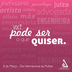105 Frases para o DIA DA MULHER 2017 (AS MELHORES!!!) We Can Do It, Love You, Peace Love And Understanding, Sweetest Day, Health Promotion, Self Esteem, Ladies Day, Mary Kay, Girl Power