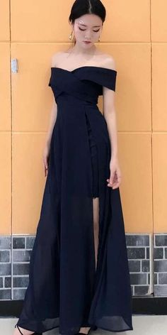 Off the Shoulder Simple Cheap Side Slits A Line Long Prom Dresses on Storenvy Simple prom dresses Simple Prom Dress, Simple Dresses, Pretty Dresses, Beautiful Dresses, Grad Dresses, Homecoming Dresses, Bridesmaid Dresses, Formal Dresses, Long Dresses