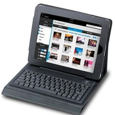 Synthetic leather bluetooth keyboard will turn your iPad into a notebook.