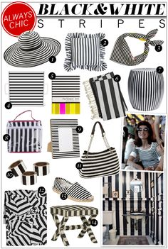 black and white stripes!