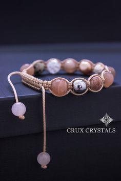 Princess Shamballa Bracelet Sun Stone Bracelet by CruxCrystals