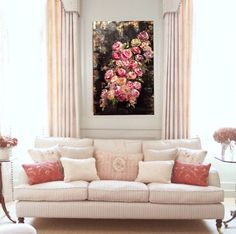 Inspire by vintage chinoiserie wallpaper, oil on canvas painting, roses, gold and black, floral amyabig.com