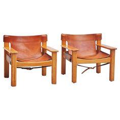 Pair of Bernt Petersen Lounge Chairs, Sweden, 1970 $2000