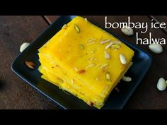 ice halwa recipe | बॉम्बे आइस हलवा रेसीपी | bombay ice halwa | mumbai halwa or mahim halwa - YouTube Indian Dessert Recipes, Indian Sweets, Sweets Recipes, Kitchen Recipes, Cooking Recipes, Halva Recipe, Fun Easy Recipes, No Bake Cake, Food Videos