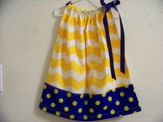 Yelllow Chevron with Blue and Yellow Polka by FunkyBabyDesigns, $15.00
