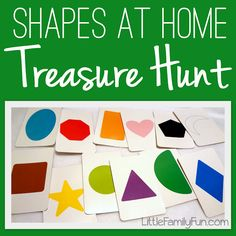 An easy activity to help your preschooler learn shapes! Fun treasure hunt! from Linda at #Little_Family_Fun