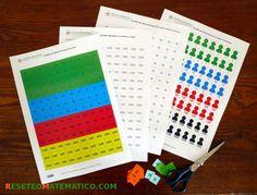 Sellos Montessori para imprimir gratis. Vienen en varios formatos para que puedas ahorrar tinta. #Montessori #matemáticas #matematicas #sellos_montessori