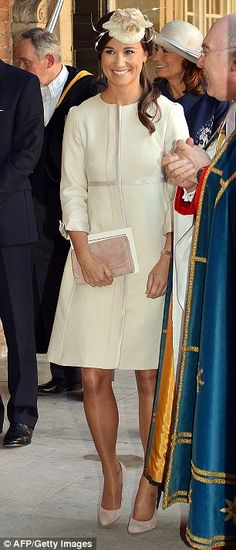 Pippa Middleton leaves the Chapel Royal in St James's Palace in central London.