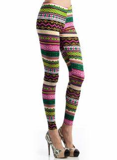 multi tribal leggins