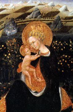 Giovanni di Paolo, Madonna dell'Umiltà, dettaglio