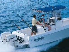 New 2012 Blue Water Boats 23t Center Console Boat - Plenty of Rod Holders For Everyone!