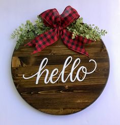 Excited to share this item from my #etsy shop: Round wood door hanger, hello sign, farmhouse decor, housewarming gift #housewarming #countryfarmhouse #homedecor #rusticdecor #housewarminggift #farmhousedecor #cabindecor