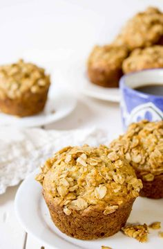 Oatmeal banana muffins are perfect for breakfast!