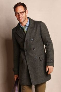 Men's Wool Topcoat from Lands' End Canvas