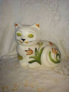 Cat Cookie Jar by Los Angeles Pottery