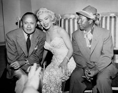 Marilyn Monroe with Jack Benny on his TV show.