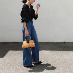 I Love Fashion, Fashion Pants, Trendy Fashion, Womens Fashion, Outfits Otoño, Cool Outfits, Fashion Outfits, Korean Fashion Fall, Japanese Fashion