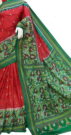 1b12a3ff014cd Purple Pure Silk Embroidered Kantha Saree
