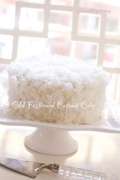 Old Fashioned Southern Triple Layer Coconut Cake with Buttercream Frosting
