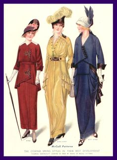 ๑ Nineteen Fourteen ๑ historical happenings, fashion, art & style from a century ago - 1914 McCall's patterns