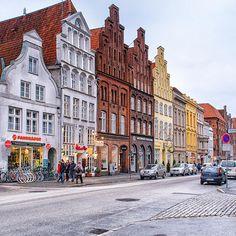 Housefronts in Lübeck (Schleswig-Holstein) Repinned by www.gorara.com