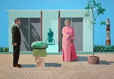 American Collectors (Fred and Marcia Weisman) David Hockney