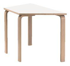 Mini puolisuunnikas pöytä 120 x 60 cm